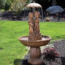 89 best fountains images on lighted garden fountains