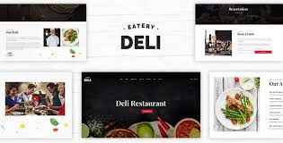 Restaurant Website Templates Classy Cool Deli Restaurant Restaurant PSD Template Restaurants Amp