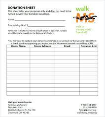 Fundraiser Pledge Form Template It Donation Pledge Form Template Fundraising On Sheet Word Templates
