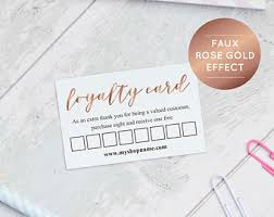 loyalty card template loyalty card etsy
