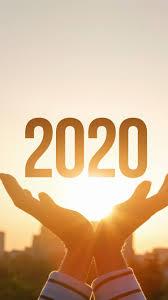 Happy New Year 2020, hands, sunshine ...