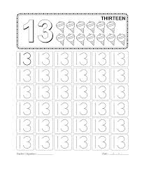 Number 13 Worksheets to Print | Activity Shelter