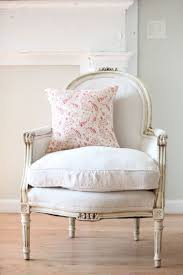french chair upholstery ideas. chalky aged white antique french chair and a lovely touch of washed pink paisley in the pillow upholstery ideas