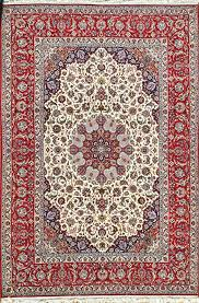 details about masterpiece red color 9x12 feet silk base persian rug 70 raj red cream slimi