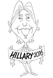 Hillary Clinton 2016 Kleurplaat Gratis Kleurplaten Printen