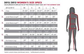686 Snowboard Clothing Size Chart Women Clothing Size