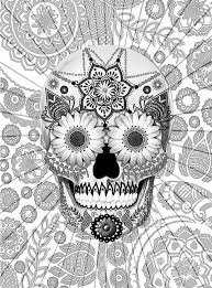 Small Picture 275 best Adult ColouringSugar SkullsDay of the Dead images