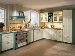 Green Kitchen Cabinet Doors Two Tone Kitchen Cabinet Doors Amys Office
