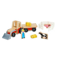wooden tractor toy farm plans