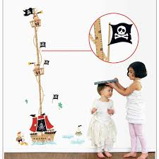 Baby Height Wall Chart Creative Ocean Pirate Ship Child Growth Measurement Height