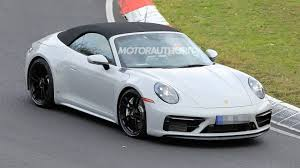 The engine, for starters, has larger turbochargers. 2021 Porsche 911 Carrera Gts Cabriolet Spy Shots And Video