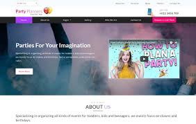 Party Planners Entertainment Category Bootstrap Responsive Web