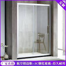 glass sliding doors bathroom custom shaped shower room bathroom partition glass sliding door bathroom wet and