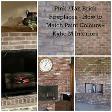 pink and pinkish tan brick fireplaces how to match wall paint colours to coordinate benjamin moore