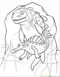Small Picture Coloring Pages Crocodile And Ugly Fish Cartoons Ice Age Free