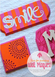 ideas for decorating wall plaques fabric paper monogram