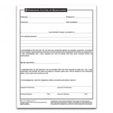 Form For Employee Employee Resignation Form Employee Separation Forms