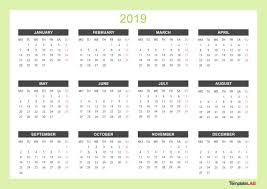 2019 Printable Calendars Monthly With Holidays Yearly
