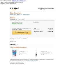 fake amazon track package email image