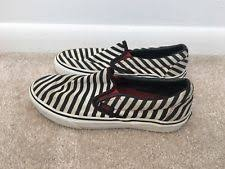 vans 500383. men\u0027s vans vault lx zebra print black and white striped classic slip on shoes 7 500383 a