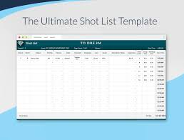 List Template Free Shot List Template Download Free And Professional Sethero