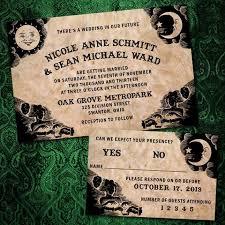 Halloween Wedding Invitations Til Death Do You Part Ouija Board Wedding Invitations For Goth
