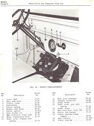 dj3a pictures from 1956 62 71 parts lists jeep surrey king