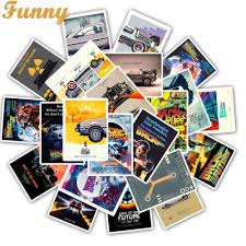 <b>25pcs Classic Movie</b> Back To The Future stickers For Luggage ...
