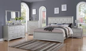 Details about Contemporary White Tufted King Size Bedroom Set 5Pcs McFerran B508