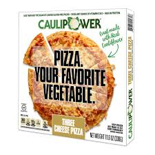 three cheese caulipower pizza packaging