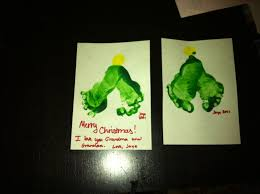 Christmas Crafts Four Month Old Baby Style  Real Life NotesChristmas Tree Feet Craft