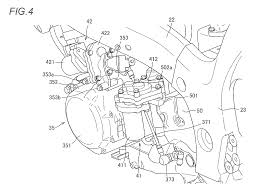 The clutch actuator 41 is located behind the crankcase while the shift actuator 42 is positioned above it the long cylindrical portions 411 and