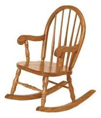 Classic Childrens Oak Rocker Bow Back Child Wooden Rocking Chair
