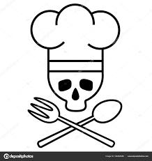 Chef De Cr Ne En Toque S Avec Fourchette Et Cuill Re Crois E Logo