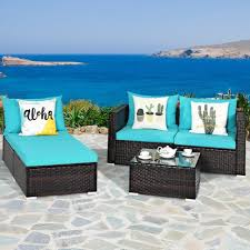 costway 5pcs patio furniture set