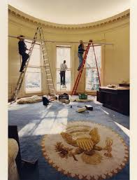 bush oval office. Oval Office President Bill Clinton Inauguration Day Remodeling Bush V