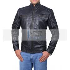 cafe racer men s classic black biker leather jacket