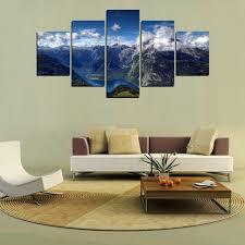 wholesale mailingart fiv320 5 panels landscape wall art painting