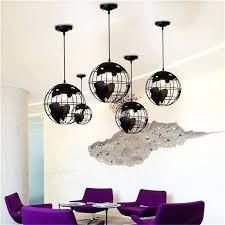 image is loading black creative loft continental single retro globe chandelier modern glass