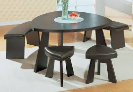 Furniture : Modern Dining Set With Triangle Brown Wood Dining ...