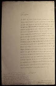 rene descartes  handwritten letter by descartes 1638