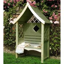 delightful covered garden bench birdhouse style benches