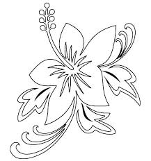 Small Picture Hawaiian Flower Coloring Pages Syougitcom
