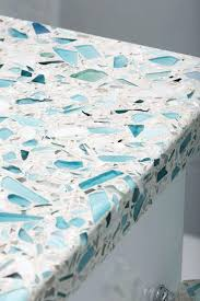 sea glass inspired recycled by countertop kitchen countertops