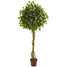 uv resistant indoor outdoor ficus artificial topiary tree