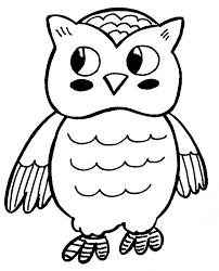 Small Picture Black and White Owl Coloring Page Color For Wedding Style