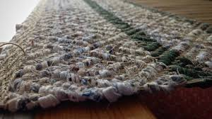 eight shaft block twill rugs with fabric strips for weft