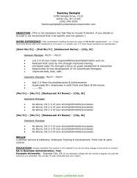 Unusual Restaurant Employee Resume Job Resume Template Pdf Format