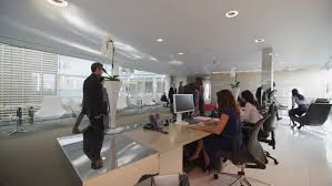 group contemporary office. Diverse Group Of City Business People In Reception Area Large Modern Corporate Building. Contemporary Office I