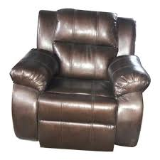modern brown single leather sofa chair